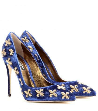 Dolce-Gabbana-Kate-velvet-pumps-fw2014