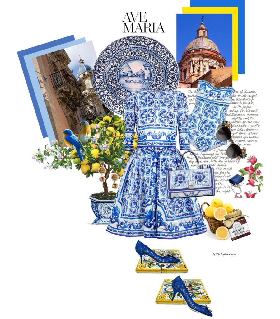 dolce-gabbana-maiolica-collezione-by-The-Italian-Glam-Dolce-Gabbana-outfit-Maiolica-décolletés-Bellucci-solitario-Bulgari