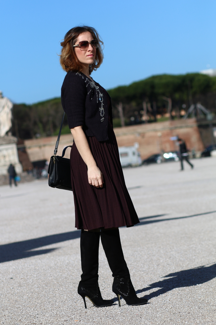 blogger diaries calogero didlove say good-bye by The Italian Glam Dolce Gabbana pleated dress
