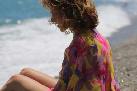 blogger diaries the sea in your eyes by The Italian Glam handmade silk poncho