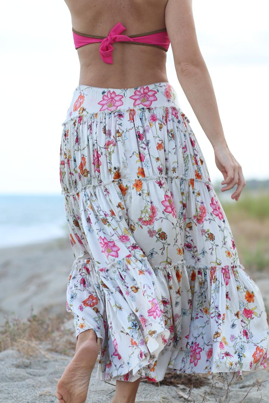 blogger diaries se io se lei by The Italian Glam silk maxi-skirt