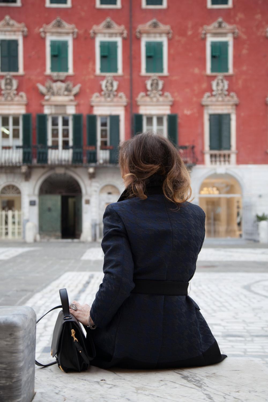 racconti fashion stellina cappotto pied de poule les copains yoox