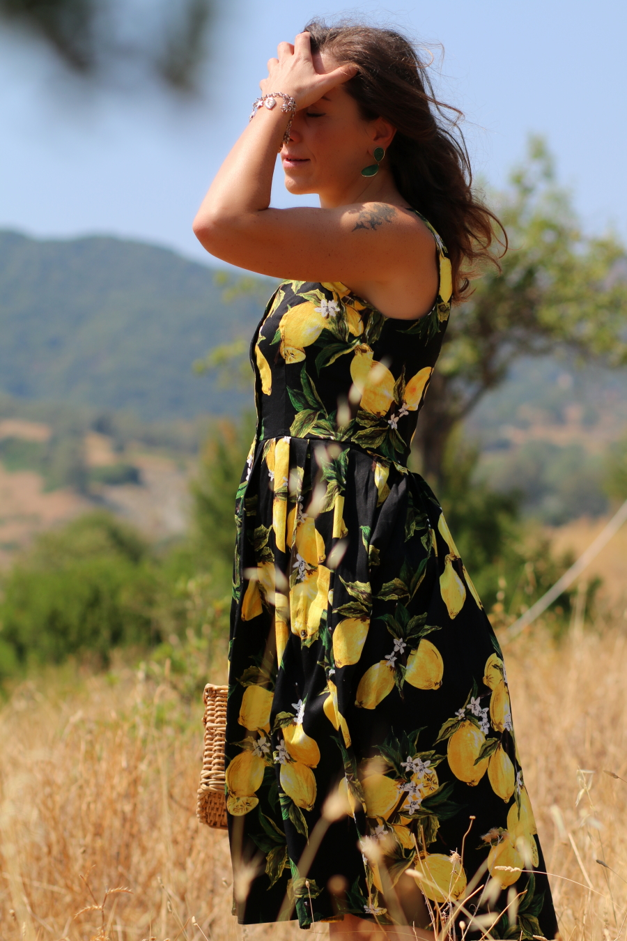 limonara italian fashion stories by stellina lemon prints dress