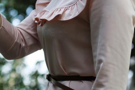 rosa stories fashion stellina vestito volants unsigned